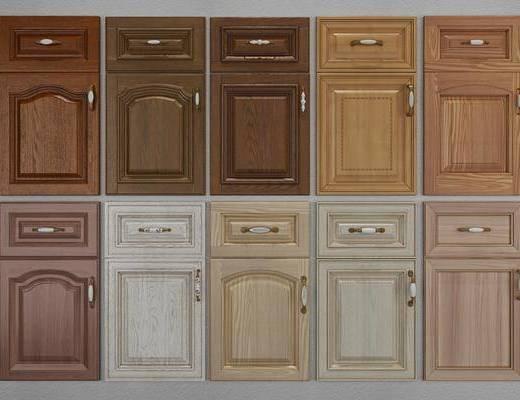 柜门, 门板, 实木门, 美式