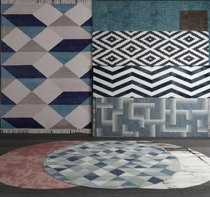 地毯, 圆形地毯, 地毯渐变, 地毯花纹, 方形地毯, 长形地毯, 地毯组合, 现代