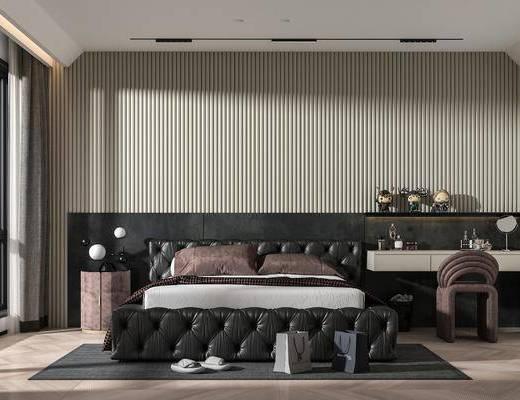 现代轻奢卧室主人房