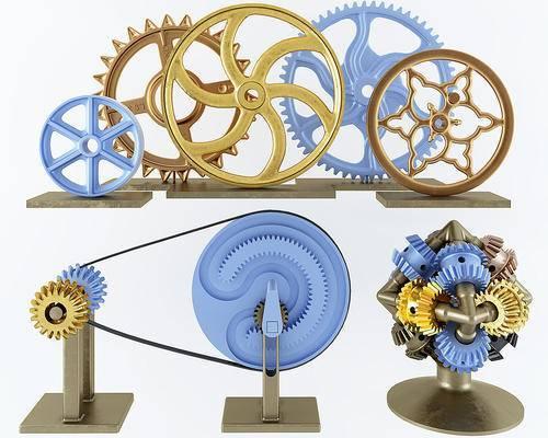 工业风齿轮, 创意摆件, 工艺品