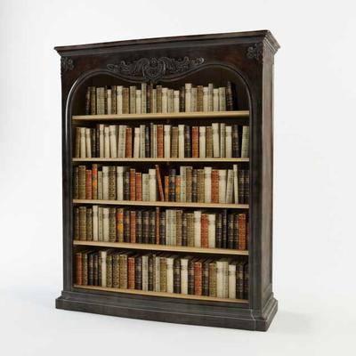欧式实木书柜, 书柜, 欧式
