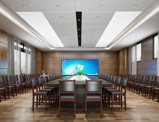 现代, 会议室, 椅子