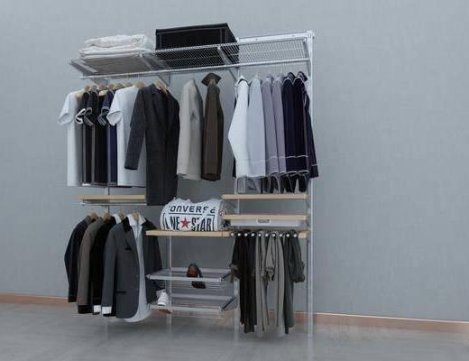 衣架, 衣服, 鞋, 包