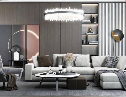 现代简约, 沙发组合, 现代吊灯, 水晶吊灯, 后现代落地灯, 现代台灯, 转角沙发, 沙发茶几组合
