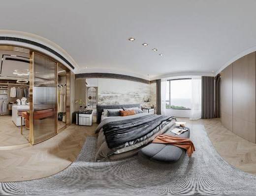 现代, 卧室, 家装