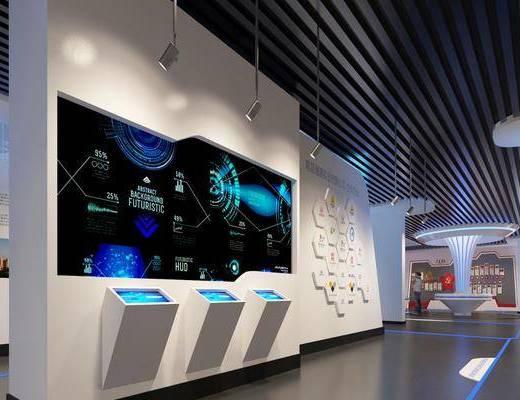 现代展厅, 展厅