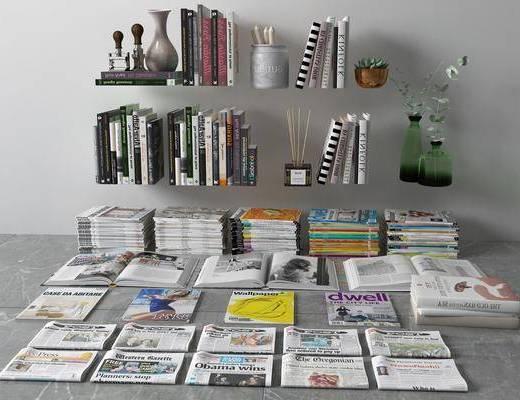 书籍组合, 书籍杂志, 现代