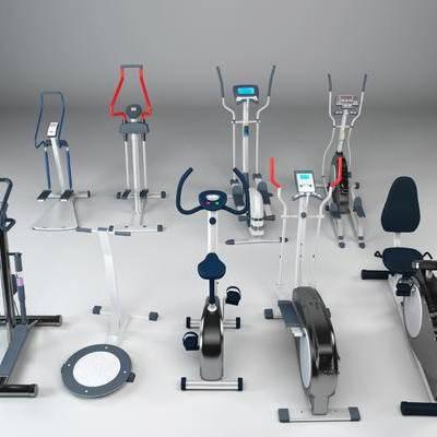 现代, 体育, 跑步机, 运动, 器材, 设备