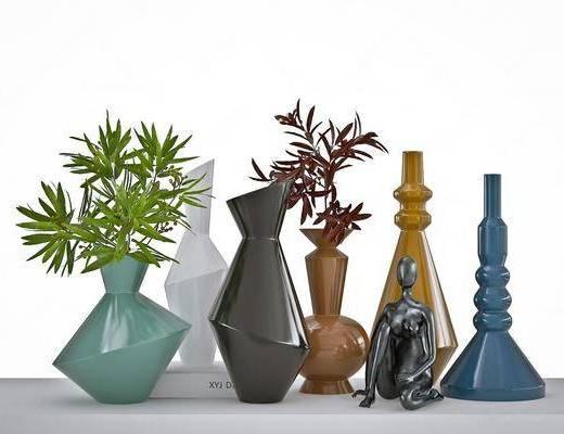 北欧, 花瓶, 摆件