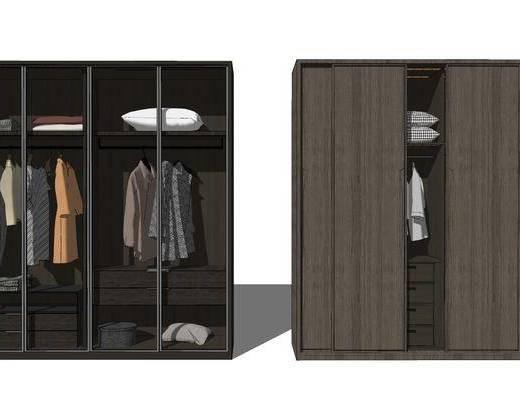 衣柜, 柜架组合, 服饰, 衣架