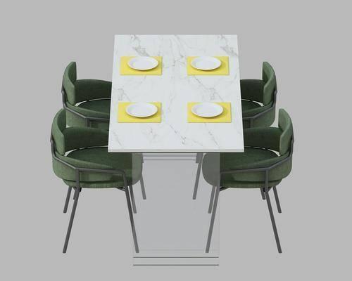 餐桌, 餐椅, 单人椅, 现代