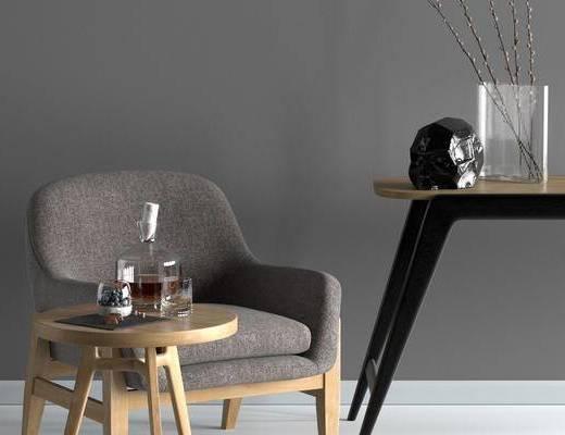 北欧单椅, 单椅, 休闲椅, 桌椅组合