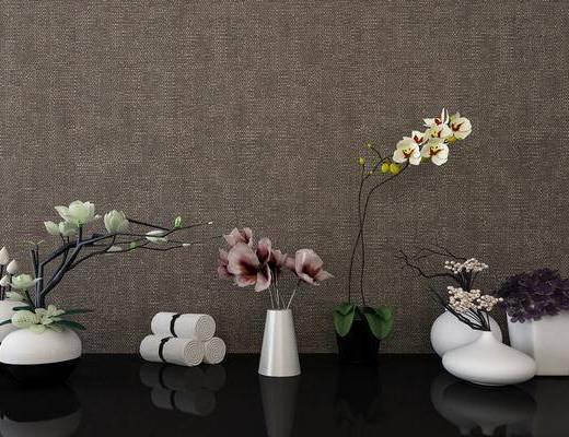 花草, 花束, 花瓶, 现代