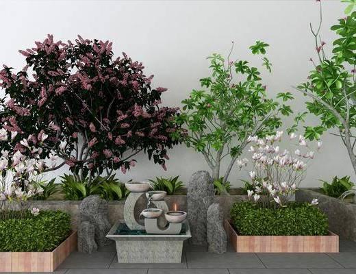景观小品, 树木, 植物, 现代