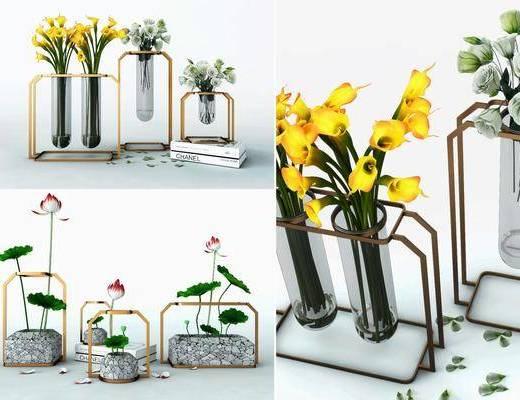 花艺摆件, 花瓶摆件, 饰品摆件, 陈设品, 摆件组合, 现代