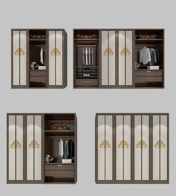 储物柜, 衣柜, 服饰, 新中式