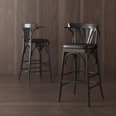 现代吧椅, 现代, 椅子, 吧台椅, 单椅