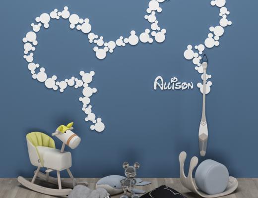 现代儿童玩具椅, 装饰品