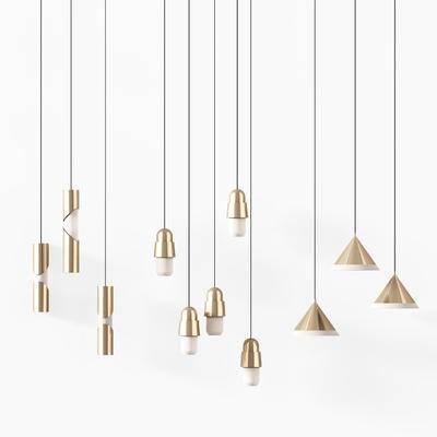 现代, 简约, 吊灯, 灯具