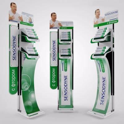 牙膏展柜, 現代