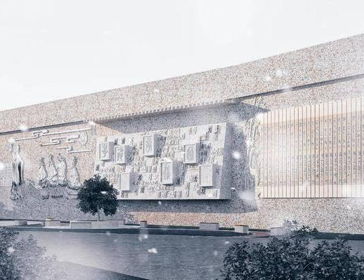 园林景观墙, 校园文化雕塑墙, 文化墙