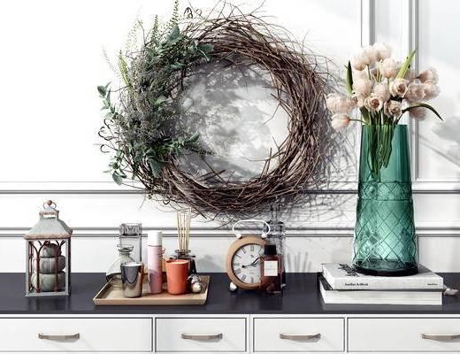 摆件组合, 装饰品, 花瓶