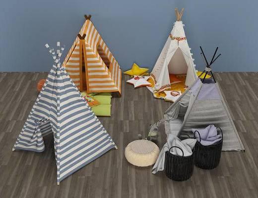 现代, 儿童帐篷床, 装饰品