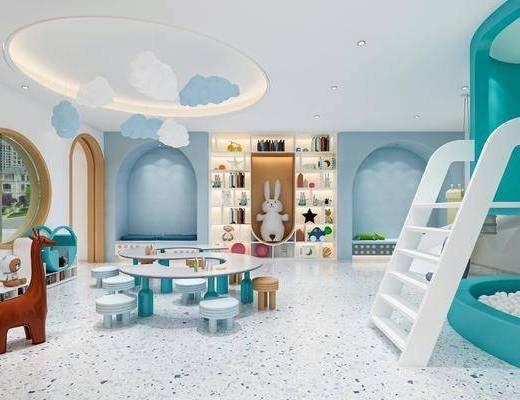 现代风格幼儿园感统室, 阅读室