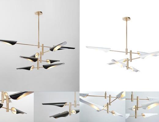 后现代金属吊灯, 金属吊灯, 现代吊灯, 白色吊灯, 黑色吊灯