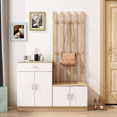 边柜, 装饰柜, 摆件, 挂画, 装饰画, 手提包, 现代