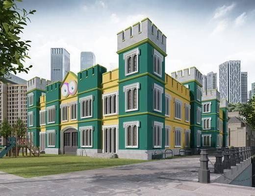 幼儿园, 学校, 建筑