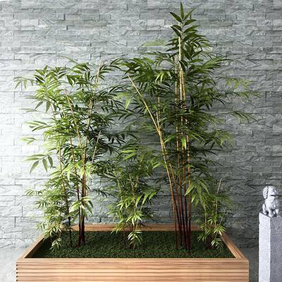 新中式, 竹子, 组合, 摆件