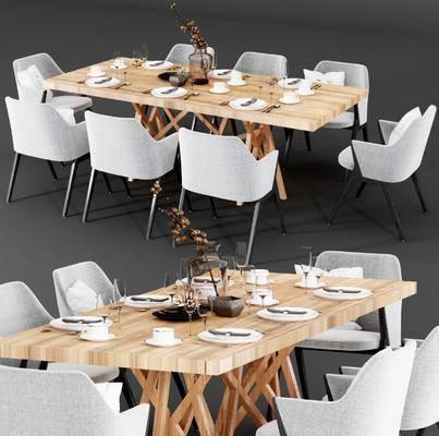 現代餐桌, 現代桌椅, 桌椅組合, 餐具