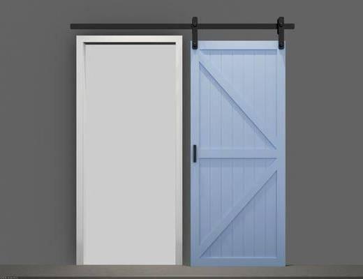 推拉门, 工业风, 门, 门构件, 北欧, 现代