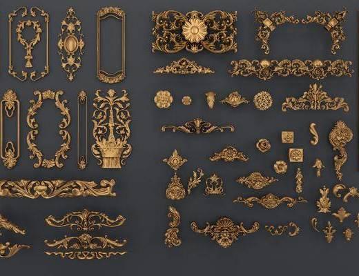 雕花, 欧式雕花, 构件, 古典, 金属, 欧式