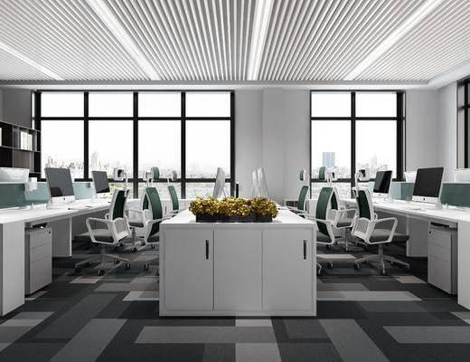 辦公區, 現代辦公區, 辦公桌, 辦公桌椅