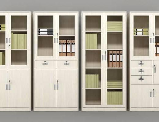 文件柜组合, 书柜, 装饰柜, 装饰品, 陈设品, 现代