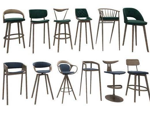 吧椅组合, 单人椅, 北欧