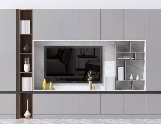 电视柜, 造型墙, 边柜