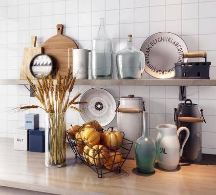 摆件组合, 餐具组合, 厨具组合, 水壶, 碗碟