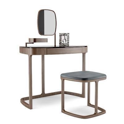 porada, 现代实木梳妆台, 椅子