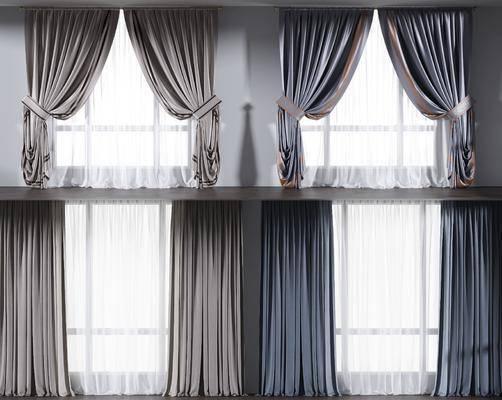 窗帘, 布艺窗帘, 纱窗