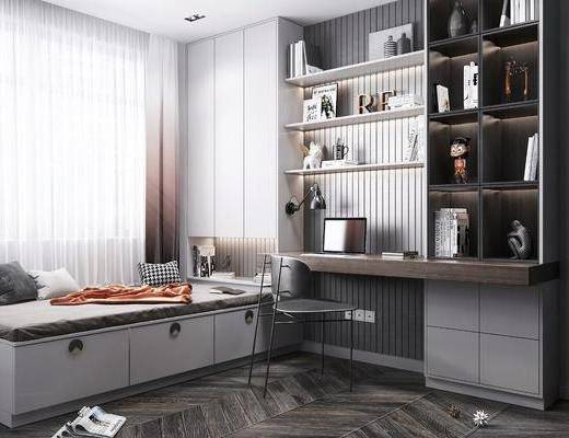 現代, 書房, 桌椅組合, 榻榻米