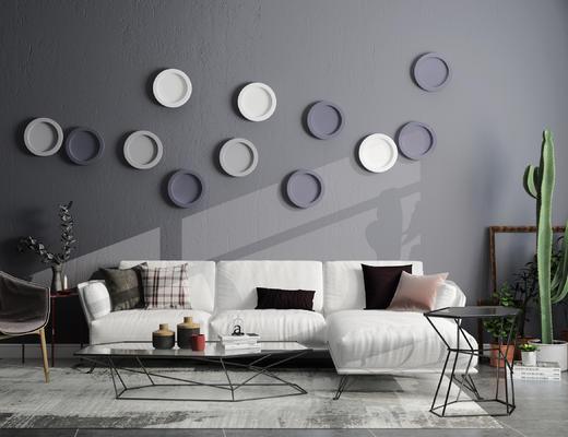 北欧沙发, 现代沙发, 布艺沙发, 沙发组合, 沙发茶几组合, 茶几