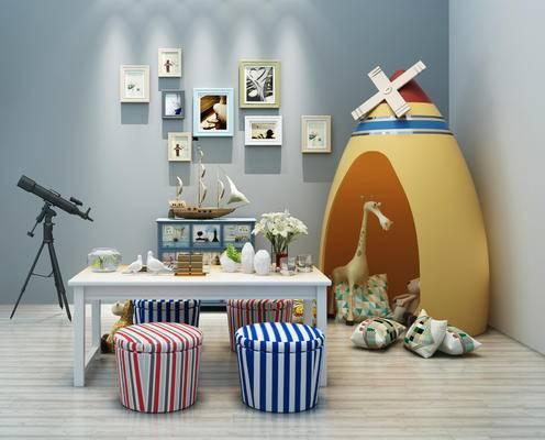 现代, 儿童玩具, 儿童桌, 儿童椅, 帐篷, 玩具, 毛绒工仔