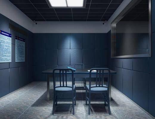 审讯室, 桌椅组合, 公安局