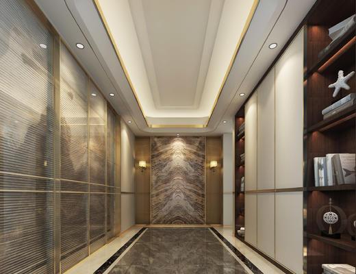 门厅, 过道, 玄关, 装饰柜