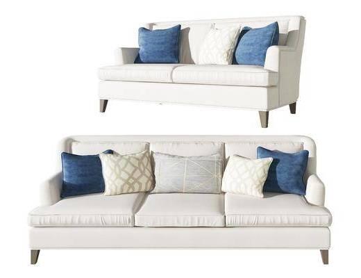 现代双人沙发多人沙发组合