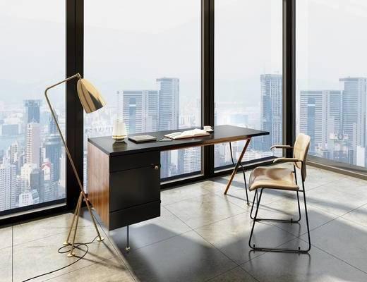 现代, 桌椅, 组合