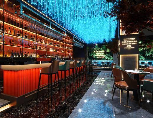 现代, 酒吧, 吧台